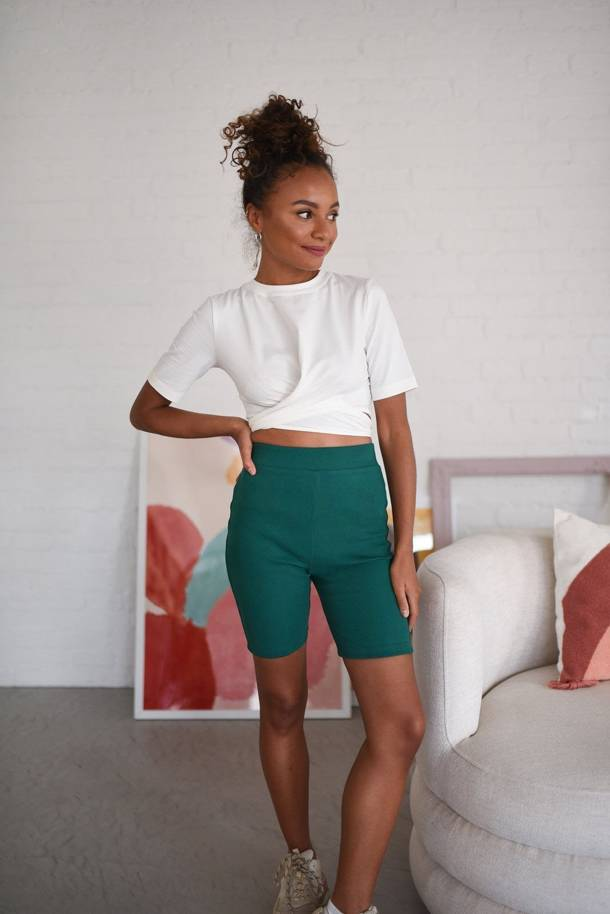 Bibi Light Green Shorts