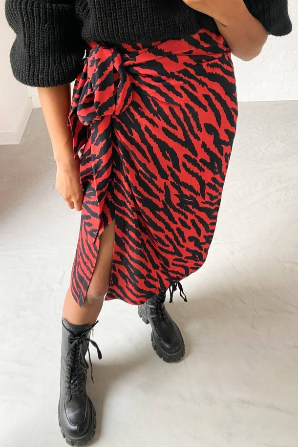Cara Long Zebra Skirt