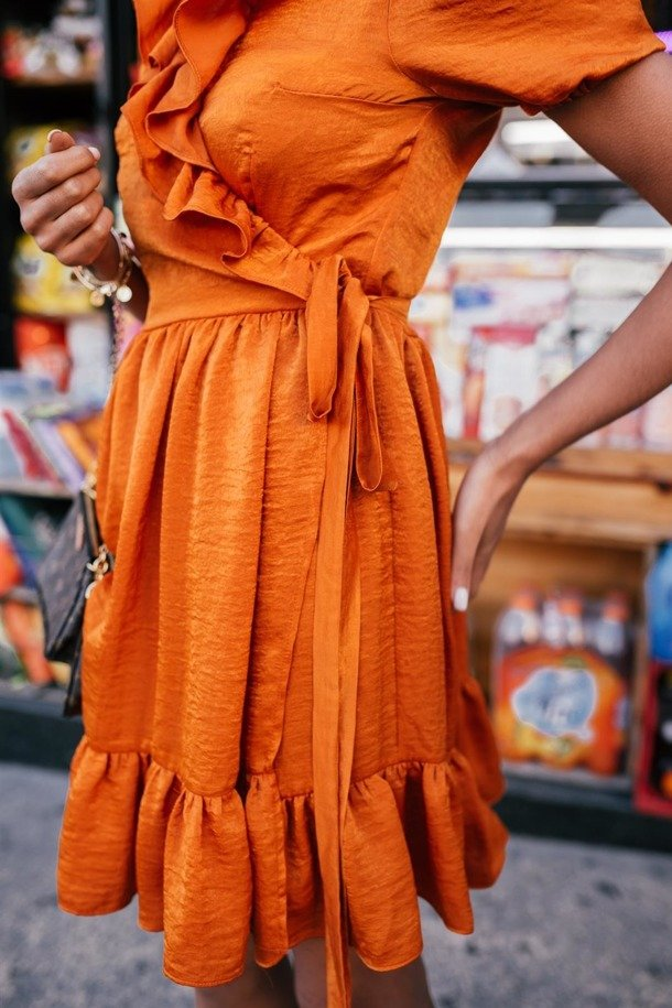 Yasmine Orange Dress